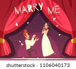 wedding background with man... | Shutterstock .eps vector #1106040173