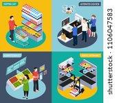 future super market isometric... | Shutterstock .eps vector #1106047583