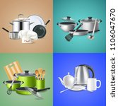 realistic kitchen tools design... | Shutterstock .eps vector #1106047670