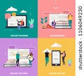 online education flat design... | Shutterstock .eps vector #1106049230