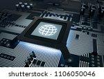 3d illustration processor...   Shutterstock . vector #1106050046