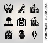 ecology icon set. environmental ... | Shutterstock .eps vector #1106050256