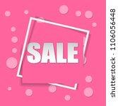 sale square banner. black... | Shutterstock .eps vector #1106056448