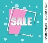 sale square banner. black... | Shutterstock .eps vector #1106056460