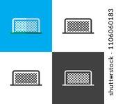soccer goal icons | Shutterstock .eps vector #1106060183