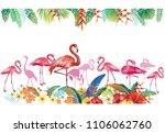 arrangement from tropical... | Shutterstock .eps vector #1106062760
