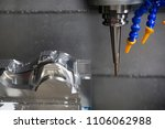 the cnc milling machine cutting ... | Shutterstock . vector #1106062988