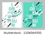 brochure design template vector.... | Shutterstock .eps vector #1106064350