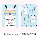 hand drawn cute card with... | Shutterstock .eps vector #1106066750