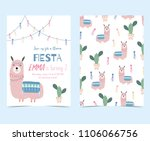 hand drawn cute card with... | Shutterstock .eps vector #1106066756