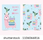 hand drawn cute card with... | Shutterstock .eps vector #1106066816