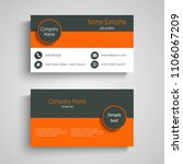 business card with three... | Shutterstock .eps vector #1106067209