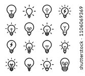 lightbulbs icon set | Shutterstock .eps vector #1106069369