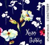 seamless background with garden ... | Shutterstock . vector #1106070089