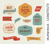 best sale label and special... | Shutterstock .eps vector #1106070173