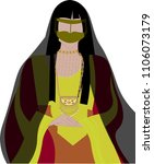 vintage emirate woman   arab... | Shutterstock .eps vector #1106073179