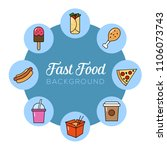 fast food background. can... | Shutterstock .eps vector #1106073743