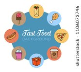fast food background. can... | Shutterstock .eps vector #1106073746