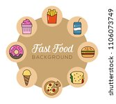 fast food background. can... | Shutterstock .eps vector #1106073749
