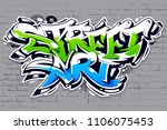 vibrant color street art... | Shutterstock .eps vector #1106075453