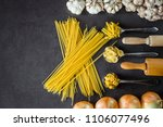 various pasta spoons. cooking... | Shutterstock . vector #1106077496