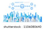 smart city with smart services... | Shutterstock .eps vector #1106080640