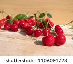 fresh cherry group with leaves... | Shutterstock . vector #1106084723