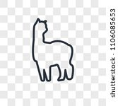 alpaca vector icon isolated on... | Shutterstock .eps vector #1106085653