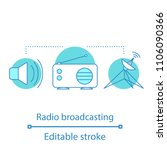 radio broadcasting concept icon.... | Shutterstock .eps vector #1106090366