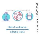 radio broadcasting concept icon.... | Shutterstock .eps vector #1106090369