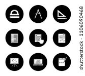 mathematics glyph icons set....   Shutterstock .eps vector #1106090468