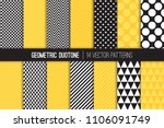 bold geometric vector patterns ... | Shutterstock .eps vector #1106091749