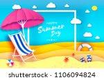 pink parasol   umbrella in... | Shutterstock .eps vector #1106094824