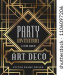 luxury vintage frame art deco... | Shutterstock .eps vector #1106097206