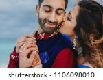 wind blows around hindu groom... | Shutterstock . vector #1106098010