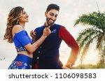wind blows around hindu groom... | Shutterstock . vector #1106098583