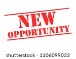 new opportunity red rubber... | Shutterstock . vector #1106099033