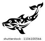 shark abstract tattoo design... | Shutterstock .eps vector #1106100566
