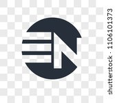 en ne vector icon isolated on... | Shutterstock .eps vector #1106101373