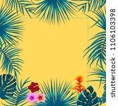 vector tropical jungle... | Shutterstock .eps vector #1106103398