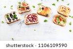 healthy summer toasts for...   Shutterstock . vector #1106109590