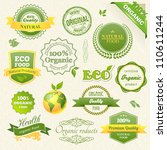 vector organic food  eco  bio... | Shutterstock .eps vector #110611244