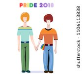 cool gay pride 2018... | Shutterstock .eps vector #1106113838