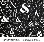 ampersand pattern made from...   Shutterstock .eps vector #1106115413