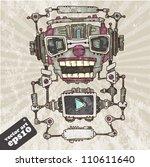 audio robot head