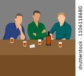 three man drinking at the bar... | Shutterstock .eps vector #1106118680