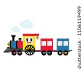 steam train transportation... | Shutterstock .eps vector #1106119499