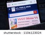 Small photo of KONSKIE, POLAND - JUNE 02, 2018: U.S. Food and Drug Administration website displayed on smartphone hidden in jeans pocket