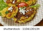 kolokythokeftees  zucchini tots ...   Shutterstock . vector #1106130134