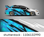 car decal vector  graphic... | Shutterstock .eps vector #1106132990